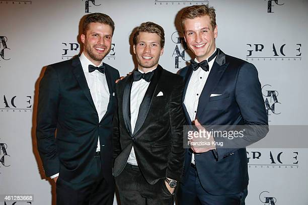 Tawan Tehrani Raul Richter and Felix Brandts attend the Grace Restaurant Grand Opening on January 10 2015 in Berlin Germany