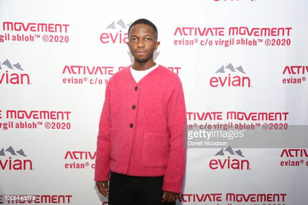 Tawanda Chiweshe attends the Evian Virgil Abloh Collaboration party at Milk Studios on February 10 2020 in New York City