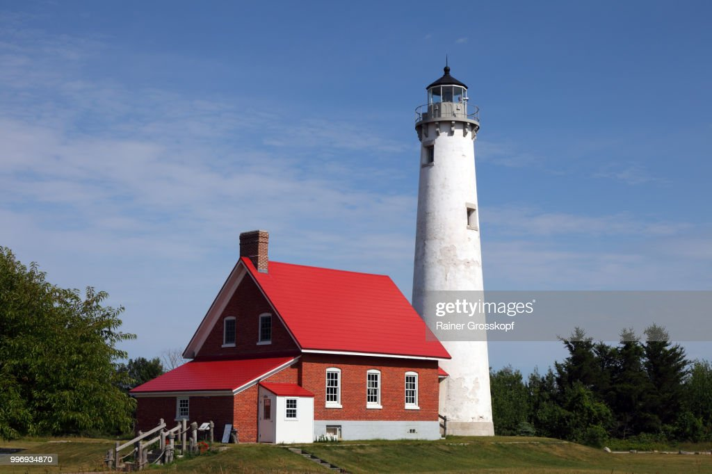 Tawas Point Lighthouse (1853) on Lake Huron : Stock-Foto