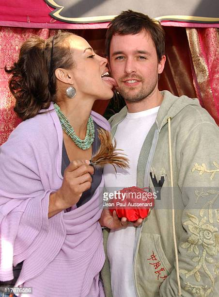 Tawny Cypress and guest at Kama Sutra during 2007 Silver Spoon Golden Globes Suite Day 2 in Los Angeles California United States Photo by JeanPaul...