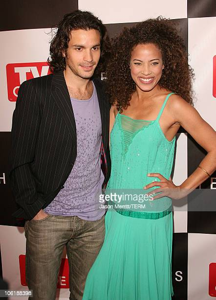 Tawny Cypress and Santiago Cabrera during The Cast Of Heroes Celebrate's Production Wrap Of Season One at The Cabana Club in Hollywood California...