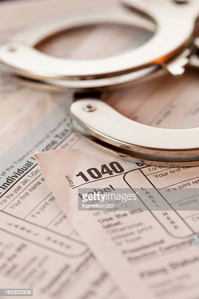 tax crime - 1040 tax form stock photos and pictures