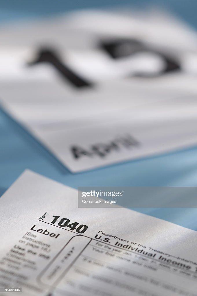 Tax day : Stockfoto