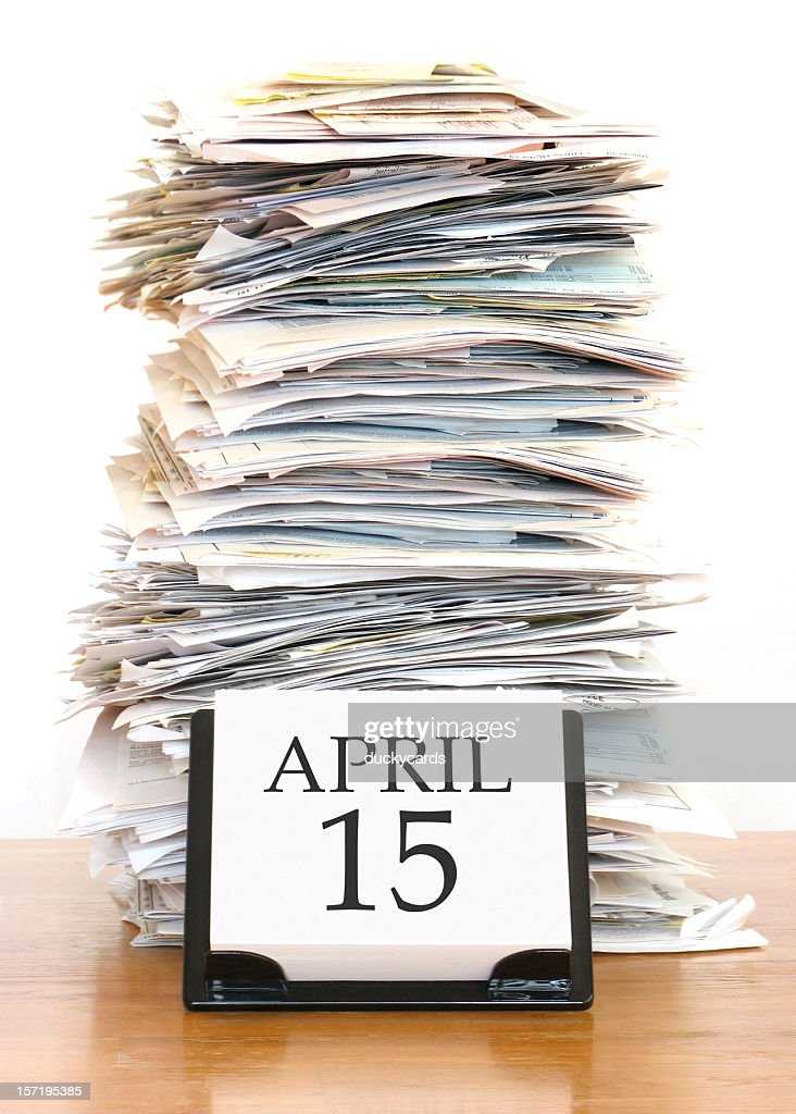 Tax Deadline : Stock Photo