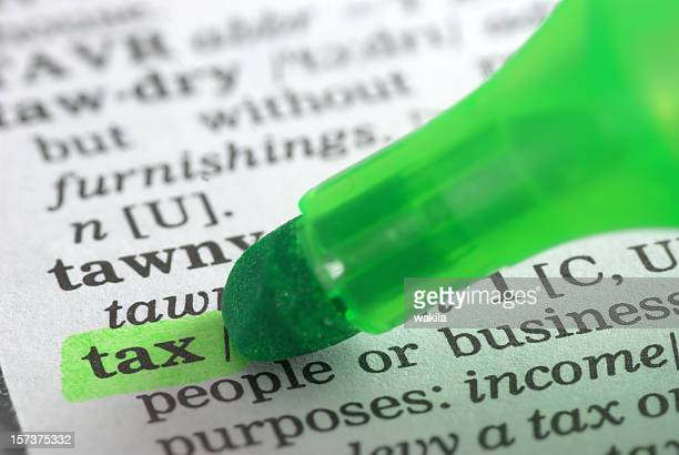 tax defintion highlighted in dictionary
