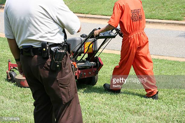tax dollars at work - prison guard stock pictures, royalty-free photos & images