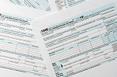 US tax form 1040 background for taxation concept finance and  business