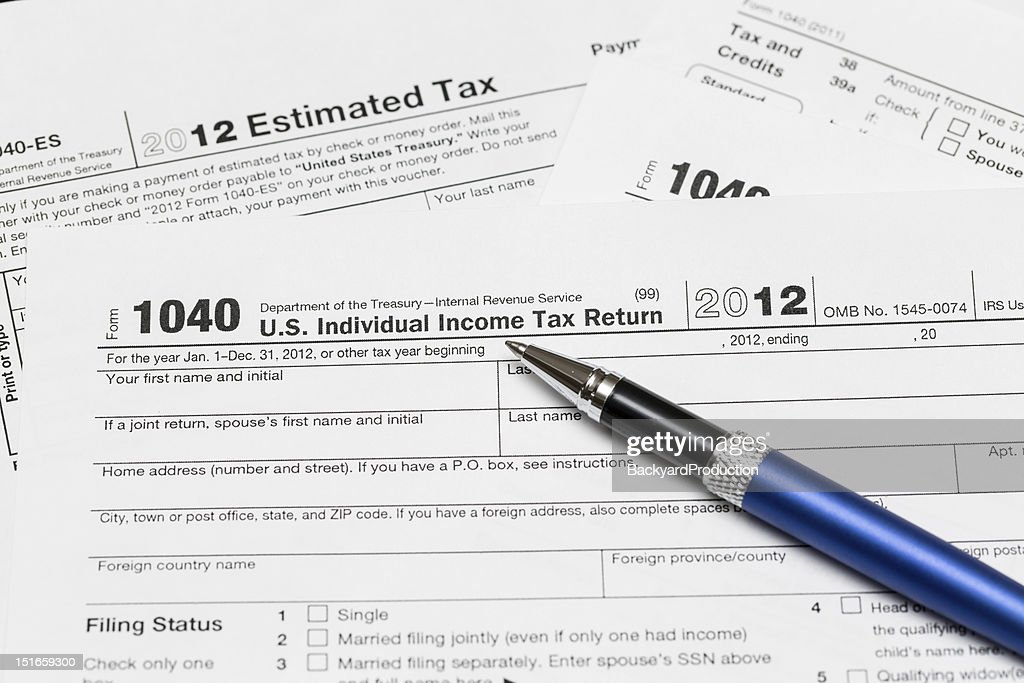 Usa Tax Form 1040 For Year 2012 Stock Photo Getty Images