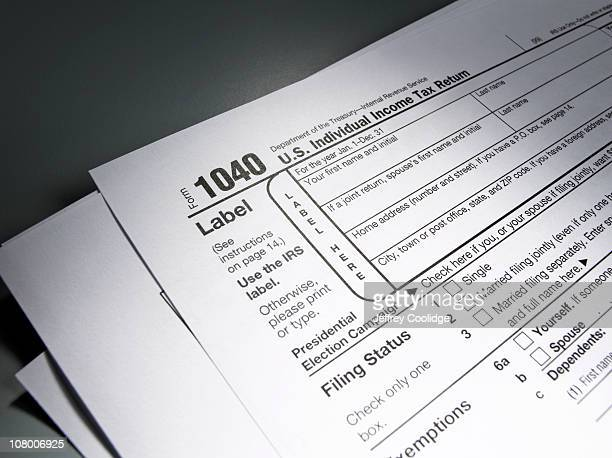 1040 tax form - 1040 tax form stock photos and pictures