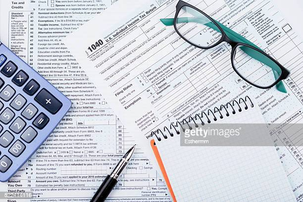 1040 Tax Form Stock Photos And Pictures Getty Images