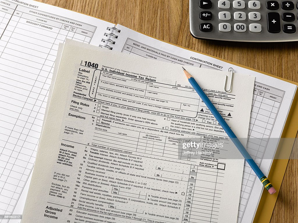 US tax forms : Stock Photo