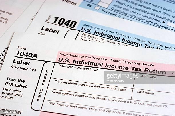 tax_forms - 1040 tax form - fotografias e filmes do acervo
