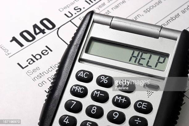 impostos de ajuda - 1040 tax form - fotografias e filmes do acervo