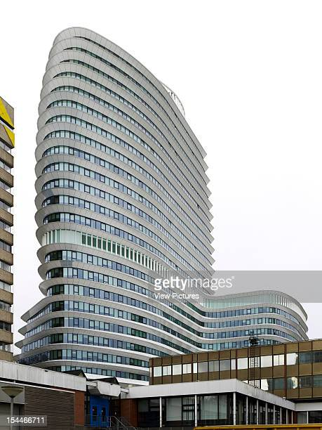 Tax Office And Education Executive Agency Unstudio Groningen Netherlands Exterior Elevation Of Aerodynamic Assymetric Building Tower Un Studio...