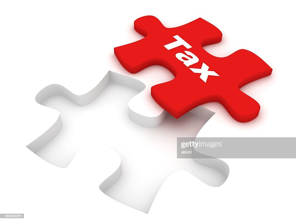 Tax Puzzle : Stock Photo