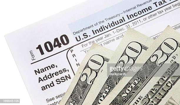 de reembolso fiscal - 1040 tax form - fotografias e filmes do acervo