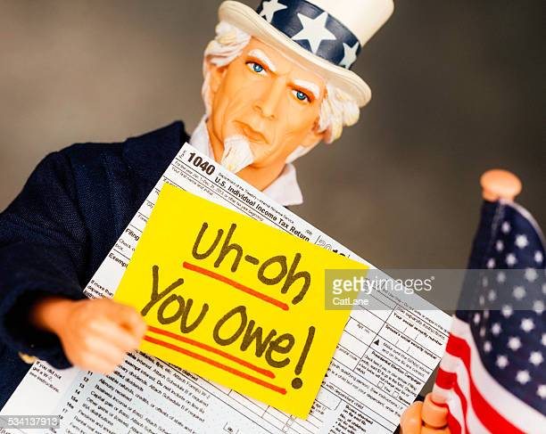 Tax Season: You Owe. Uncle Sam with US Form 1040