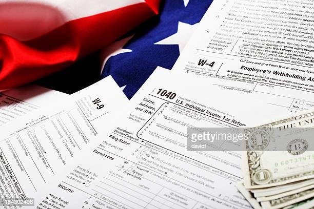us tax time - 1040 tax form stock photos and pictures
