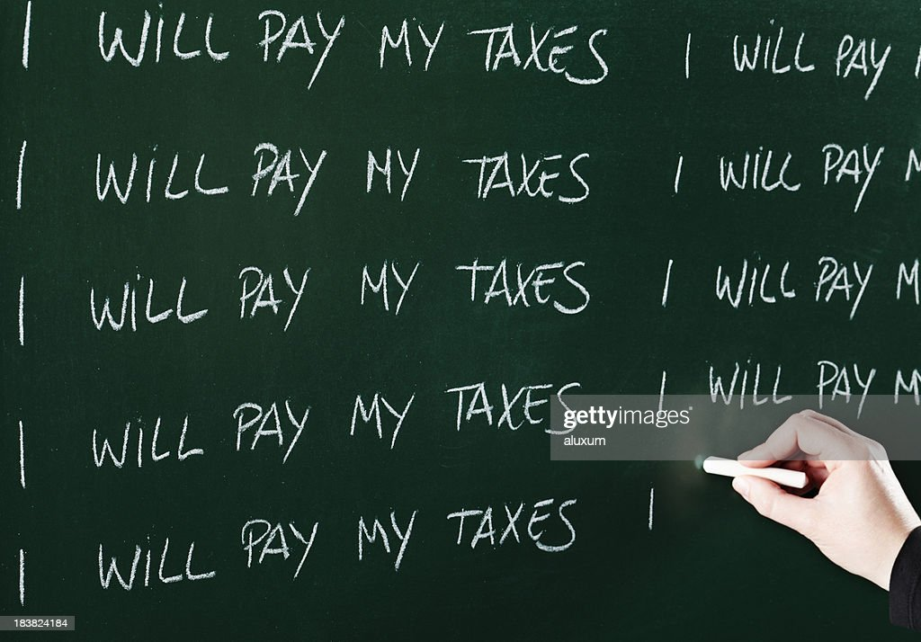 Taxes evasion : Stock Photo