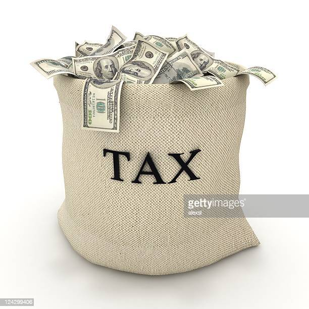 taxes payment - money bag stock photos and pictures