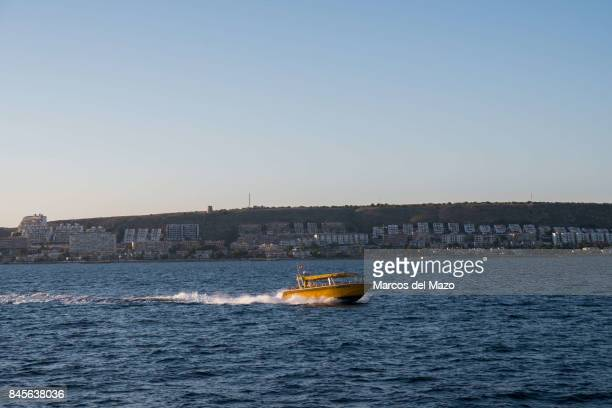A taxi boat covering the route Santa Pola Tabarca Tabarca is a small islet located in the Mediterranean Sea close to the town of Santa Pola Alicante...