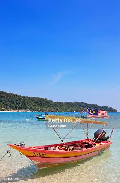 taxi boat, perhentian islands - schiffstaxi stock-fotos und bilder