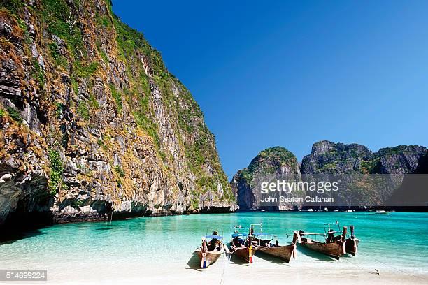 Taxi Boats at Maya Bay