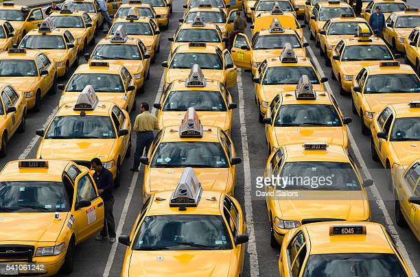 Taxi Cabs at New York's La Guardia Airport