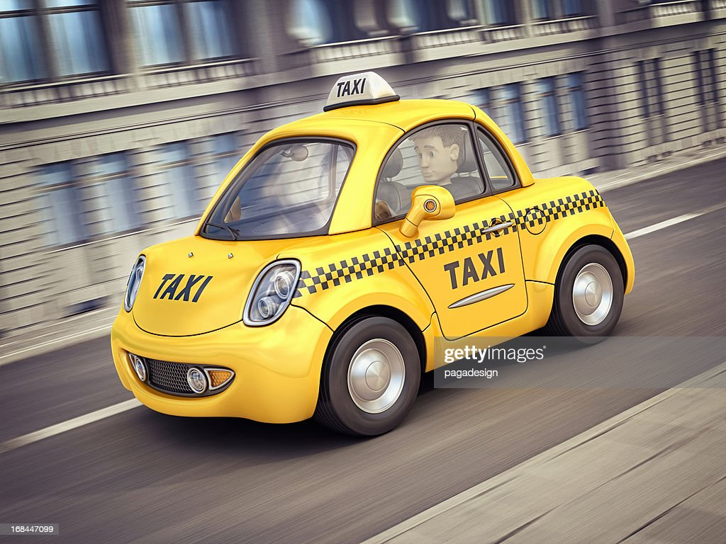 taxi car in the city : Stock Photo