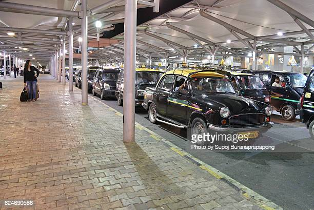 Taxi cars at Delhi Indira Gandhi Airport
