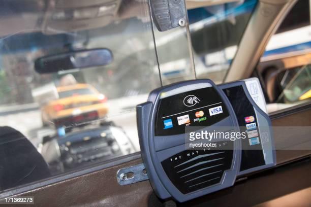 Taxi credit card reader