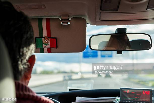 Taxi Driver in Madrid: Mexican Flag