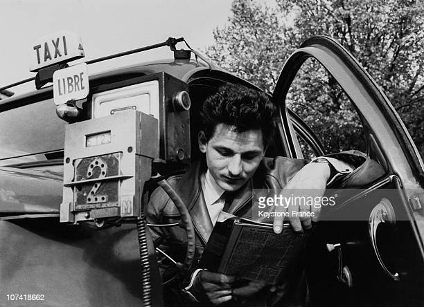 Taxi Driver In Paris On May 1955