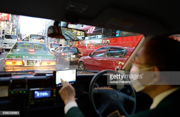 Taxi driver in Tokyo