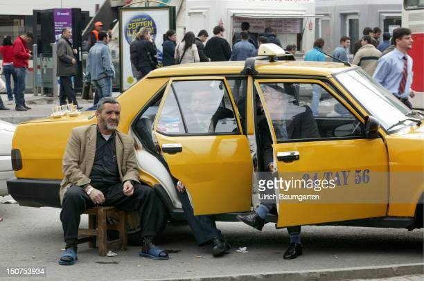 Taxi drivers waiting for customers in the district Sultanahmet