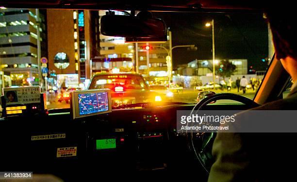 Taxi Driving Through Tokyo