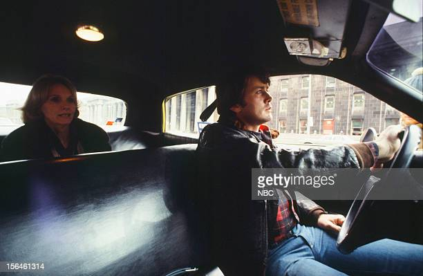 FAME 'Taxi' Episode 2704 Pictured Eva Marie Saint as Passenger Martin Sheen as Taxi Driver