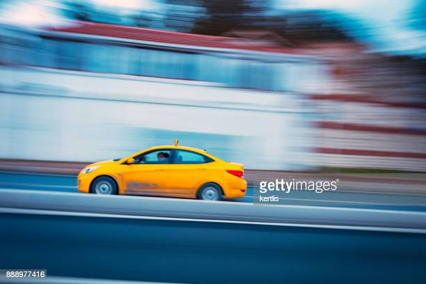 taxi in istanbul - taxiing stock pictures, royalty-free photos & images