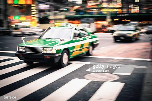 タクシーで動作