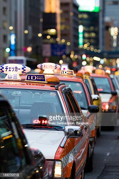Taxi line at Ginza