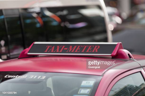 Taxi meter sign in Bangkok
