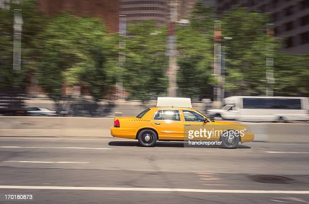 taxi on new york city - taxi stock pictures, royalty-free photos & images