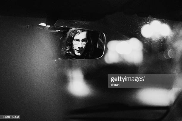 taxi ride - film noir style stock photos and pictures