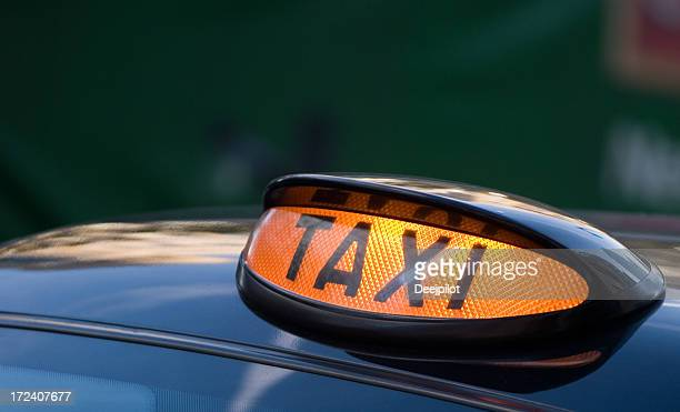 Taxi Sign on London Black Cab UK