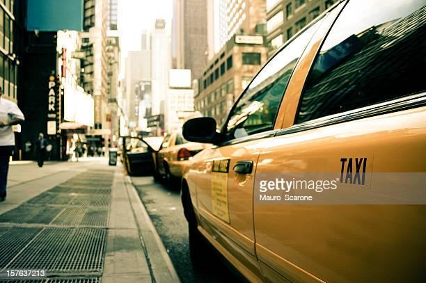 タクシー乗り場でニューヨークます。