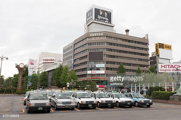 タクシー乗り場は駅、日本の新潟