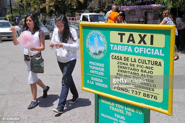 Taxi stand sign Parque Metropolitano