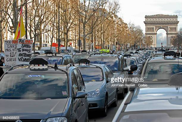 A taxi strike hit France in protest of the government's proposal to deregulate the taxi sector to stimulate more competition and create more jobs...