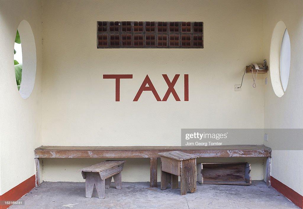Taxi waiting stop : Stock Photo