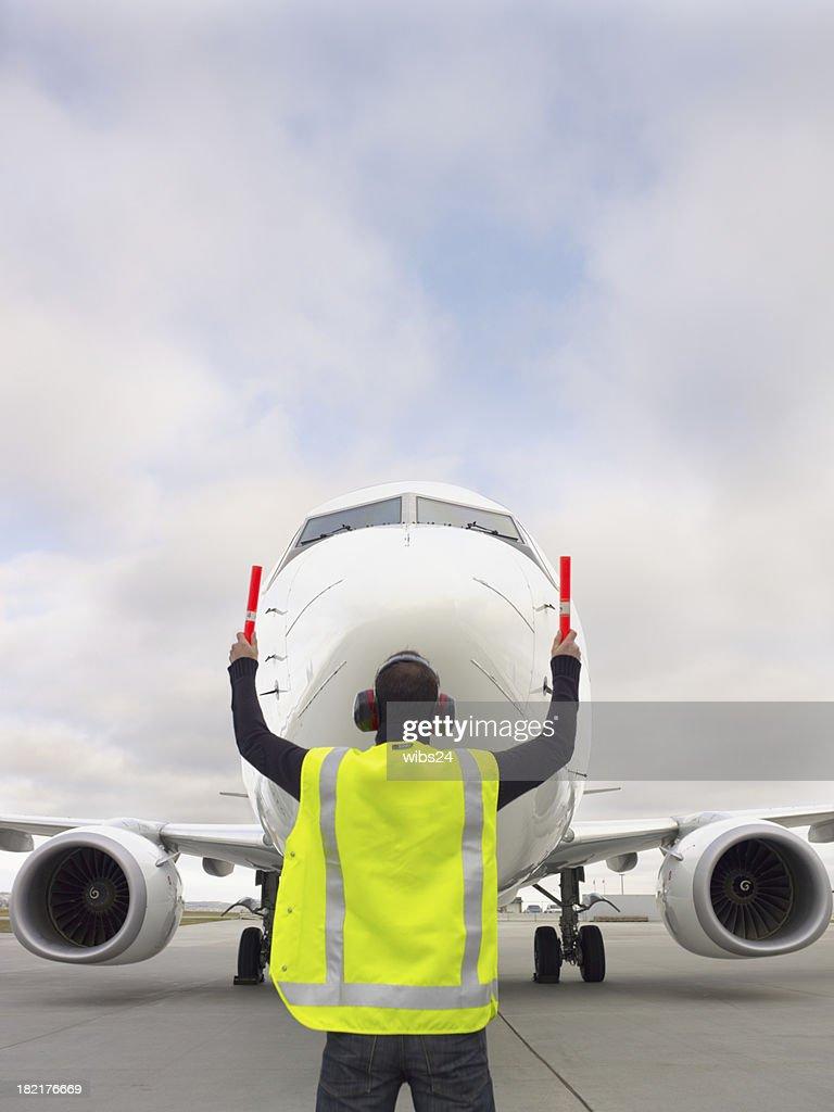 Taxiing in a plane (XXXL) : Stock Photo